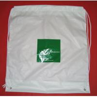 China White Lightweight Plastic Drawstring Backpack Bags For Mobile Phone / Handphone wholesale