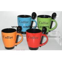 Buy cheap Ceramic Mugs/Cups with spoon from wholesalers