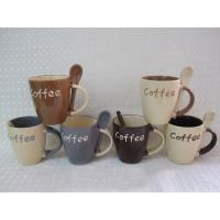 China Ceramic Mugs/Cups with spoon wholesale