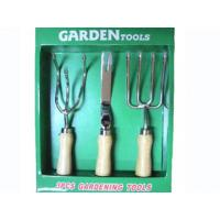 China 3-pieces stainless steel garden tools set wholesale