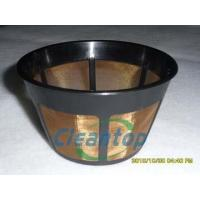 China Goldtone Basket shaped stainless steel Coffee Filter wholesale