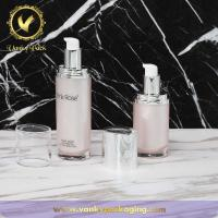 China Acrylic Jar Face Care Cosmetic Cream Cosmetic Packing 30ml 50ml Fancy Lotion Pump Bottle wholesale