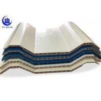 China Insulation Hollow Twin Wall Roofing Sheets Corrugated Anti Impact Resistance wholesale