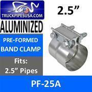 China ALL 2.5'' PIPE TYPES 2.5'' Preformed Aluminized Exhaust Clamp on sale