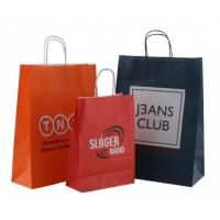 China Twisted handle paper bags, kraft paper ba wholesale