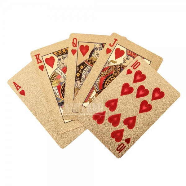 Quality 24k Gold Plated Playing Cards for sale