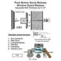 China Window Guard Release Push Button Quick-Release Window Guard Release wholesale