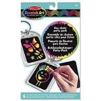 China Melissa and Doug Key Chain Scratch Art Party Pack by Melissa & Doug wholesale