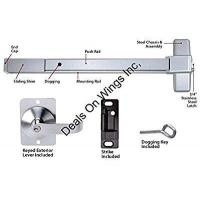 China Commercial Doors Push Bar Panic Exit Device, Aluminum, with Exterior Lever wholesale