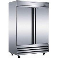 """China 54"""" Upright Stainless Steel 2 Door Commercial Refrigerator, 46.5 Cubic Feet, CFD-2RR, for Restaurant wholesale"""
