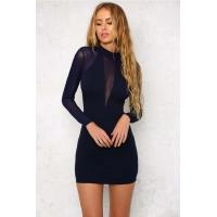 China KR6001D Black Dress with Long Sleeve wholesale