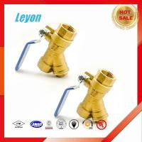 China Screwed end y strainer brass valve y type ball check valve cw617 brass valve wholesale