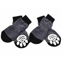 China Dog Socks Traction Control Anti-Slip for Hardwood Floor Indoor Wear, Paw Protection Grey on sale
