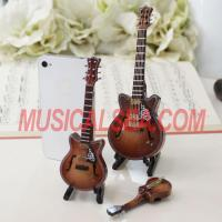 China Miniature guitar fashion and unique cheap custom brass tie b Musical Instrument wholesale