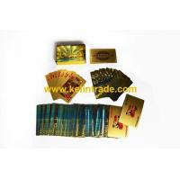 China 24K Dubai burj al arab gold playing cards on sale