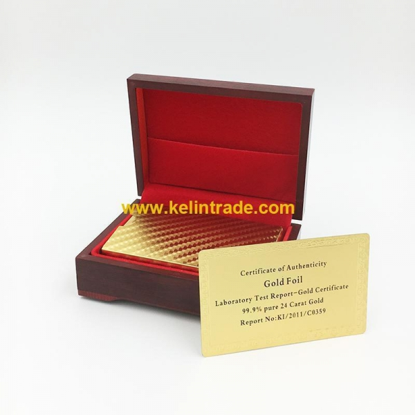 Quality 24K Gold Foil Playing Cards for sale