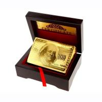 China Small Wooden Box for 24k Gold Playing cards wholesale