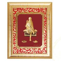 Buy cheap 24k gold leaf india god saibaba frame hot selling in dewali 2016 from wholesalers