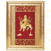 Buy cheap 3D gold foil durga frame hot selling in dewali from wholesalers