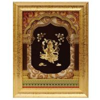 Buy cheap 3D gold foil ganesh frame hot selling in dewali from wholesalers