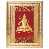 Buy cheap 24K Gold Flower 3D gold foil shiv frame hot selling in dewali from wholesalers