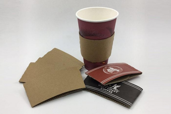 Quality Custom Logo Printed Paper Coffee Cup Sleeve for sale