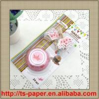 China Baking cups with toppers(TS-012) wholesale