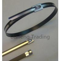 China ss cable tie-strap epoxy half coated on sale