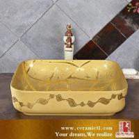 Buy cheap Art basin 2017 Tanglong golden luxury porcelain basin-TLA0002 from wholesalers