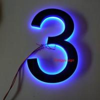 China Factory Stainless steel led luminous house number wholesale