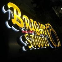 China cutomized led 3D outdoor backlit channel lighted letters signs wholesale