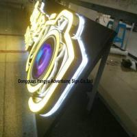 China Factory antique stainless steel backlit pizza shop sign wholesale
