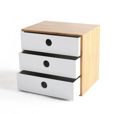 Quality Office Bamboo Desktop Organizer With Drawer for sale