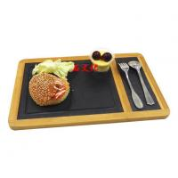 China Bamboo And Slate Serving Tray/ Slate Serving Board wholesale