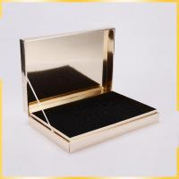 China golden color flip top gift boxes with lids can be customed personalised jewellery holding wholesale
