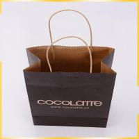 China Black shopping gift kraft paper grocery bag wholesale with manufacture high quality wholesale