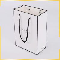 China black and white gift paper carrier bags with twisted handles like striped gift bags wholesale