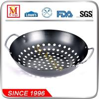 Buy cheap Silver Black Non-stick Round BBQ Grill Wok from wholesalers