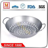 Buy cheap Silver BBQ Wok with Wire Handles from wholesalers