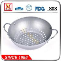 Buy cheap Silver Non-stick Grill Wok with Holes from wholesalers