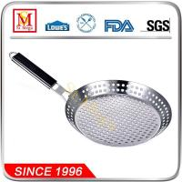 Buy cheap Stainless Steel BBQ Pizza Pan with Wood Handle from wholesalers
