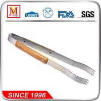 Buy cheap 15-Inch Wooden Handle BBQ Tongs from wholesalers