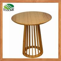 Buy cheap Solid Bamboo Round Tea Side End Bar Table in Natural Color from wholesalers