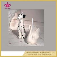 China Customized Animal Vintage Ceramic Toilet Cleaning Brush Holder Vintage Style Toilet Brush Holder wholesale
