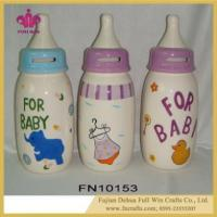 China Customized Design Ceramic Feeding Bottle Coin Bank and Piggy Bank Box wholesale