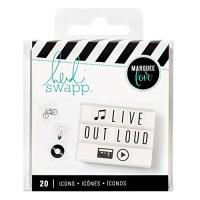 China American Crafts Heidi Swapp Lightbox Icon Inserts black 20 Piece on sale