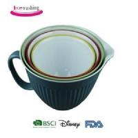 China High grade food safety double color melamine plastic sets bowl with handle wholesale