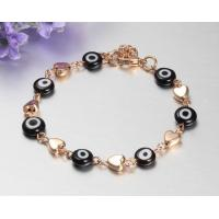 China Mens stainless steel bracelets with 24K gold plating wholesale