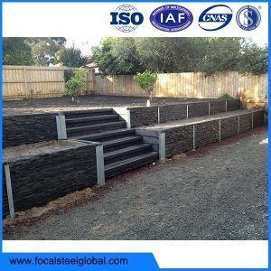 Quality Galvanised Retaining Wall Support H Sections For 50mm 75mm 100mm Sleepers for sale