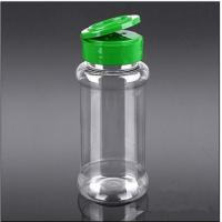 Buy cheap GL038200ml Clear Spice Bottle plastic salt&pepper shaker bottle with Flapper Cap from wholesalers